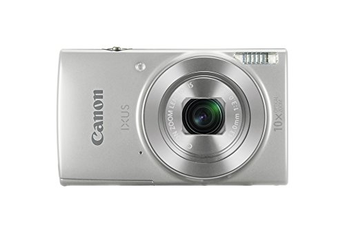 "Canon IXUS 190 - Cámara compacta de 20 MP (Pantalla de 2.7"", 20x ZoomPlus, Modo Smart Auto, Date Button, Easy Auto, Creative Filter, Canon Camera Connect, WiFi) Plata"