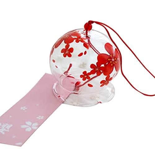BoburyL Japanischer Wind Bell Blumenglas Wind Chimes Heim Wohnzimmer Büro Cosplay Hängedeko -