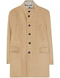 f34c5bab Zara Men's Quilted Three Quarter Length Coat 0706/439 Brown