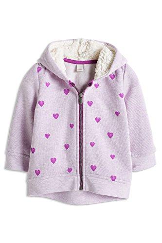 ESPRIT Baby - Mädchen Sweatshirt mit Kapuze, Gr. 62, Violett (VIOLET 505)