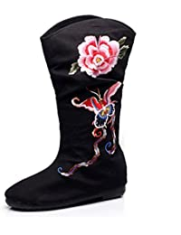 de362eface046c KHSKX-Alte Schuhe Stiefel Ein Folk - Stickereien Stiefel Hohe Stiefel Schuhe  Reitstiefeln Die Zunahme