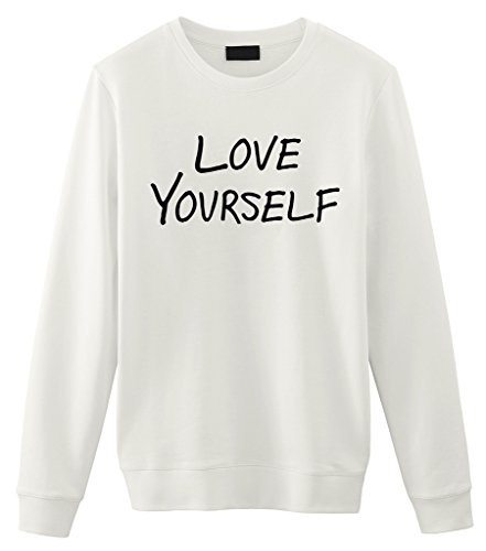 Fellow Friends - Justin Bieber Love Yourself Unisex Sweater (Small, White)