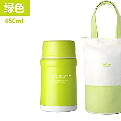Generic 450ml Vacuum Food Container Insulated Soup Kettle Vacuum Flask With Bag Insulation Thermal Bento For Kids