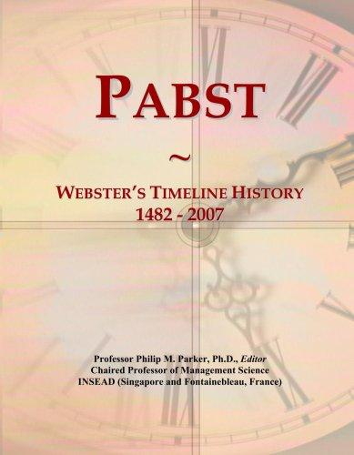 pabst-websters-timeline-history-1482-2007