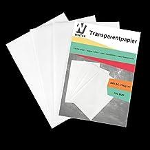 WINTEX 100 Blatt Transparentpapier DIN A4 100 g/qm Super Qualität