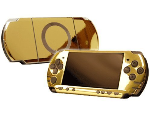 Sony PlayStation Portable 2000 (PSP-Slim) Skin - NEW - GOLD CHROME MIRROR system skins faceplate decal mod by System Skins (Psp Chrome)