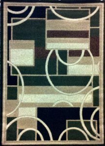 5 Green 7 Area Rug X (Modern Area Rug 5 Ft. 2 In. X 7 Ft. 3 In. Green #115 by Nour Int)