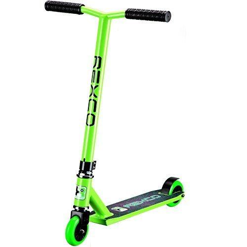 Preisvergleich Produktbild Rexco Pro Stunt Roller Fester Lenker Straße Sprung Tretroller Kinder Erwachsene ABEC-7 Kugellager - Grün