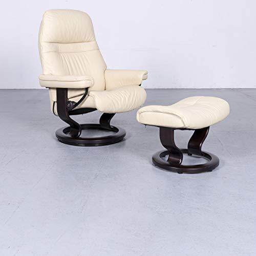 Stressless Designer Leder Sessel Beige Echtleder Stuhl Relax #6595