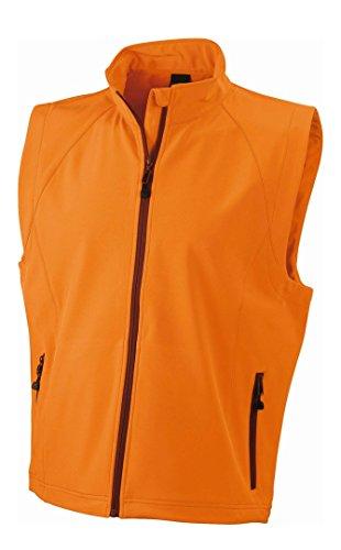 Herren Softshell Weste Winddichte Weste Bodywarmer Orange