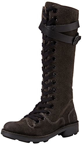 FLY London Neli, Bottes Rangers Femme Marron (Diesel/black 007)