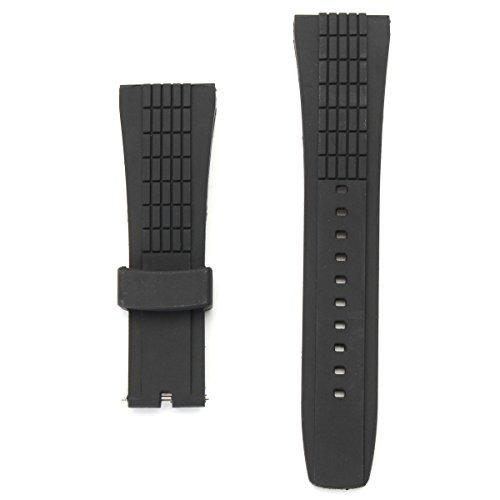 DyNamic 20-26mm Silikon-schwarzer Uhrbandgurt für Seiko Velatura-Uhr austauschbar - Silikon Uhrenarmband 23mm