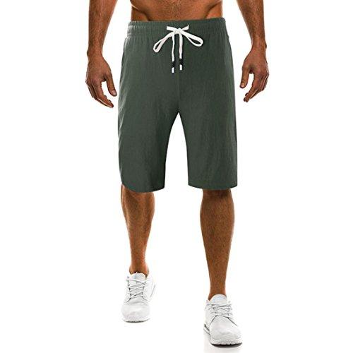 Zolimx pantaloni,sportivi uomo estivi eleganti pantaloni uomo corti estate shorts uomo sportivi eleganti pigiama uomo cotone estivo sexy pantaloncini uomocorti estivi (5xl, verde militare)