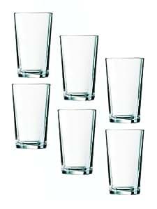 6 Duralex Chope Unie Saftgläser Wasserglälser Beistelglas Gläser Glas 56 cl