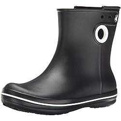 Crocs Jaunt Shorty Boot, Botas de Agua para Mujer, Negro (Black), 38/39 EU
