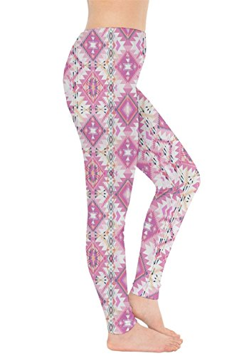 CowCow - Legging - Femme Black & Pink rose/blanc