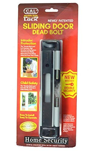 (grau) Cal doppelt Bolt Lock-Hohe Sicherheit für Glas-Schiebetür Türen-Kindersicherung-Einbrecher/Hurricane Proof (Schiebetür Lock Security)