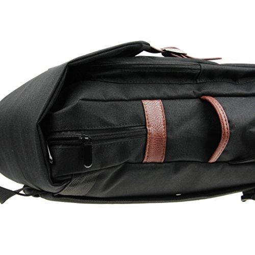 Liying Neu Größ Retro Canvas Rucksack Vintage Rucksack Schulrucksake Handtaschen Backpack Rucksack für Reisen Computer Outdoor Camping Picknick Sports Universität Schultasche Schwarz Schwarz