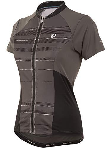 PEARL IZUMI Damen Elite Escape Short Sleeve Jersey Medium Shadow Green Stripe - Shadow Stripe Shirt