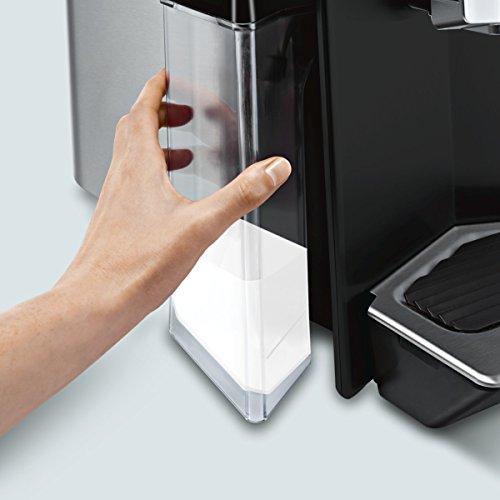 Siemens TI903509DE Macchina da caffè automatica EQ.9 s300, 19 bar, sistema di riscaldamento intelligente, Auto Milk Clean, Super Silent, Nero/Acciaio Inox include filtri acqua Schwarz, Edelstahl