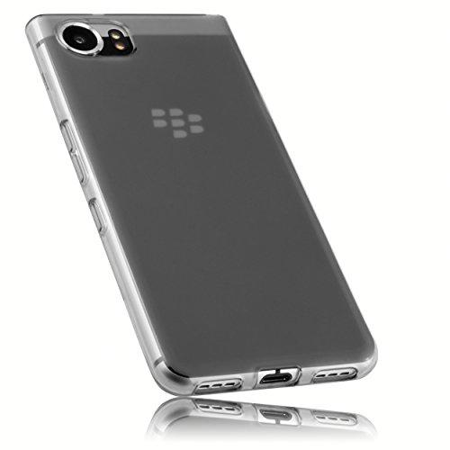 mumbi Schutzhülle für BlackBerry KEYone Hülle transparent schwarz