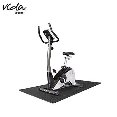 Vida Sport Protect Floor Unterlegmatte Bodenschutzmatte Fitnessgeräte Trainingsmatte Fitnessmatte schwarz