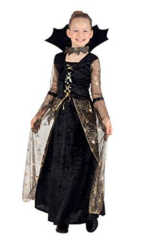 Boland 78067 - Kinderkostüm Spiderella Halloween Kostüm 7-9 (Girls Kostüm Golden)