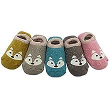 Estwell 5 Paar Unisex Kleinkind Baumwolle Socken Erstlingssöckchen Anti-Rutsch Baby Jungen Mädchen Socken