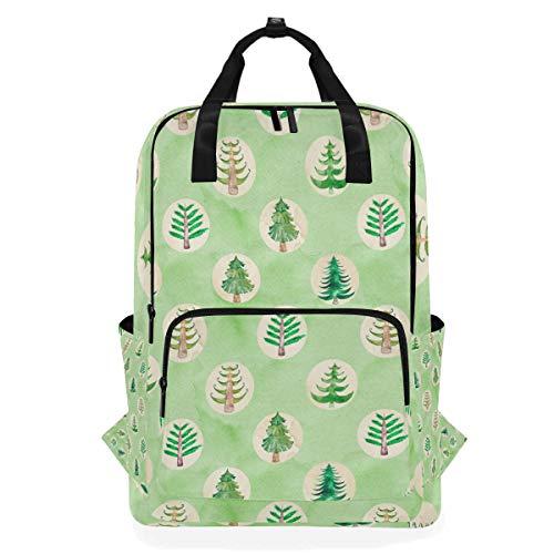 Rucksäcke für Schule, Buchtasche, Reisen, Wandern, Camping, Tagesrucksack für Jungen und Mädchen, 26,7 x 14 x 38,1 cm, für 35,6 cm Laptop (Xma Weihnachtsbaum-Muster)