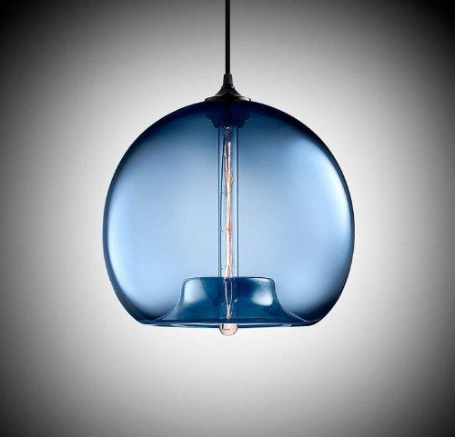 Modern Vintage Blue Glass Shade Industrial Loft Ceiling