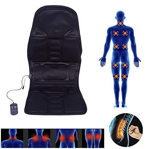 mit 5 Massagezonen, Shiatsu Sitzheizung Massagematte Massagekissen für Haus Büro Auto, Elektrisch Wärmetherapie Vibrationsmassage Pad mit Fernbedienung(EU) ()