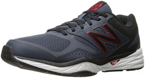 New Balance Men's Casual Comfort 824 Training Cross-Trainer Shoe, Grey/Red, 12 4E US