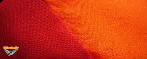– Hängematte, Fallschirmseide Rot und Orange – 5 m mit integrierten, 240 x 150 CM - 5