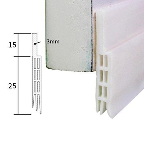Lvguang Junta Adhesiva para Puerta para Sellar Burlete a Prueba de Polvo Aislamiento Acústico (1m)
