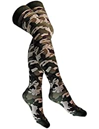 Overknee Socken Militär Camouflage