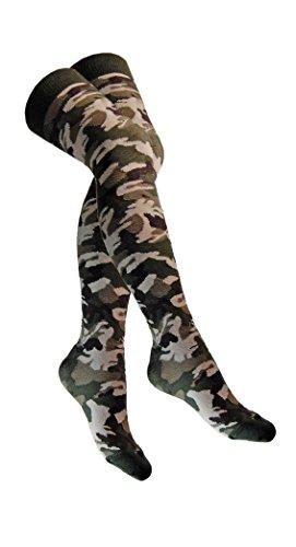 Overknee Socken Militär Camouflage (Camouflage-mädchen-socken)