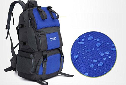 LQABWLarge Kapazität 50L Im Freien Wasserdichten Nylon Climbing Tasche Camping Rucksack Red