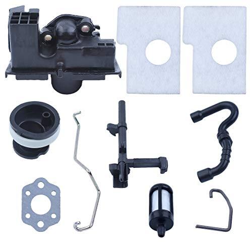Vergaser Adapter Luftfilter Schalter Welle Ansaugkrümmer Rod Kit für STIHL 017 018 MS170 MS180 Benzin Kettensäge Ersatzteile
