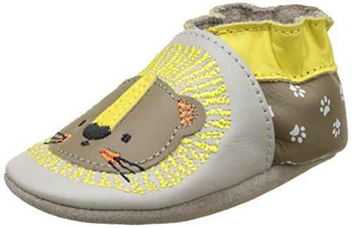 Robeez Sweet Lion, Chaussures de Naissance Bébé Garçon, Beige (Beige Foncé), 17/18 EU