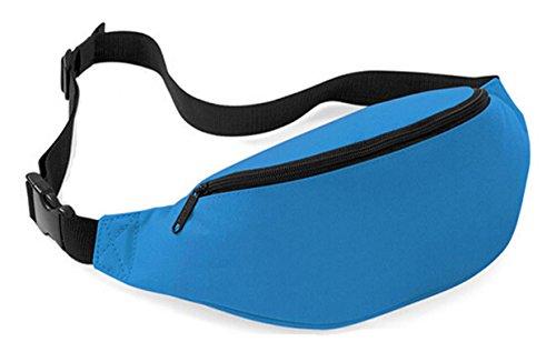 DATO Unisex Gürteltasche Klein Wasserdicht Sport Multifunktions Nylon Bauchtasche Tasche Hüfttasche Joggen Sport Gürtel Hip Pack BagBase Azurblau