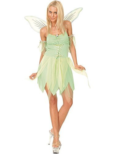 Peter Kostüm Sexy Pan - Adult Ladies Neverland Fairy Fancy Dress Tinkerbell Costume Sexy Hen Night Party (Women: 18-20) by Funtastik