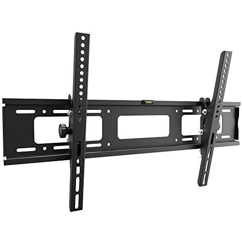 RICOO R07, TV Wandhalterung, Neigbar, Flach, Fix, Universal 37-80 Zoll (94-203 cm) TV-Halterung, Curved/LCD/LED Fernseher, VESA 600x400, Schwarz