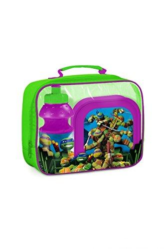 Ninja Turtles TMNT Tasche mit Pausenbox / Brotdose und Trinkflasche (Ninja Turtle Tmnt)
