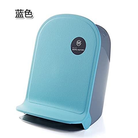 Lppkzq-Trash accueil creative living room salle de bains cuisine protection pied minimaliste petites poubelles suspendues en plastique, bleu