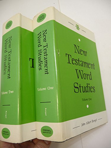 New Testament word studies, Set of Two Volumes. (Kregel reprint library)
