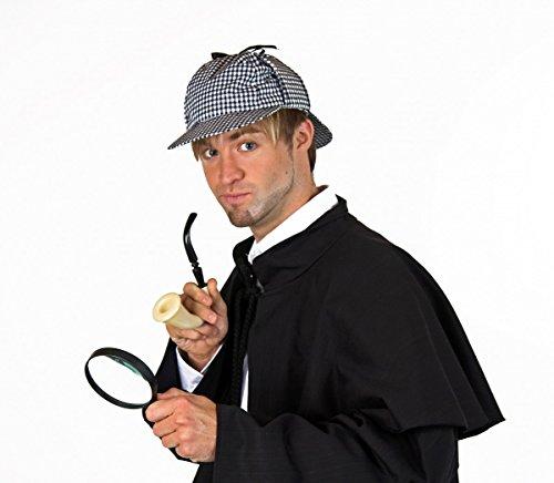 Detektiv-Set, 3-tlg: Mütze, Pfeife, Lupe