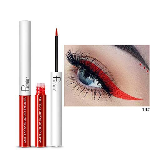 15 Farbe Quaan Metallisch Glänzend Rauchig Augen Lidschatten Wasserdicht Funkeln Flüssigkeit Eyeliner