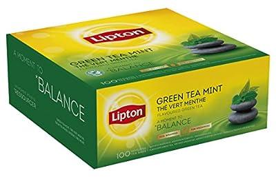 Lipton Thé Vert Menthe 100 Sachets Fraîcheur - Lot de 2