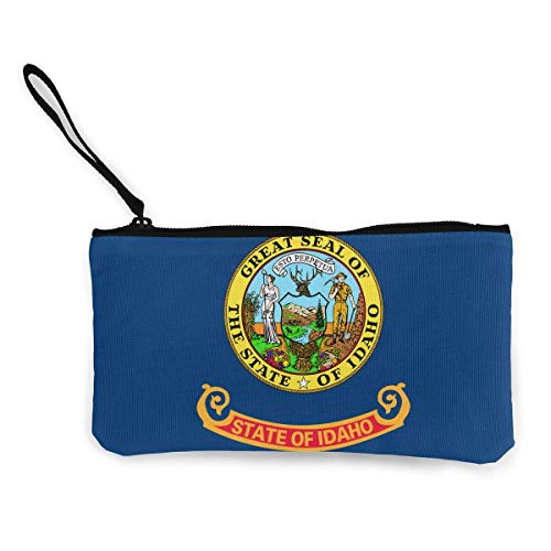 liangxiquguidaojiaotongshe Coin Purse Idaho Flag ID Cute Travel Makeup Pencil Pen Case With Handle...