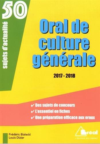 Oral de culture générale, sujets d'actualité